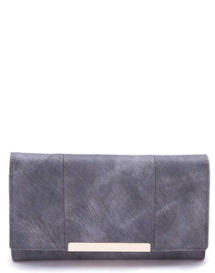 Panelled Grey Wallet