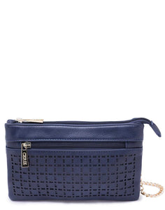 Navy Blue Bag with Chain Sling