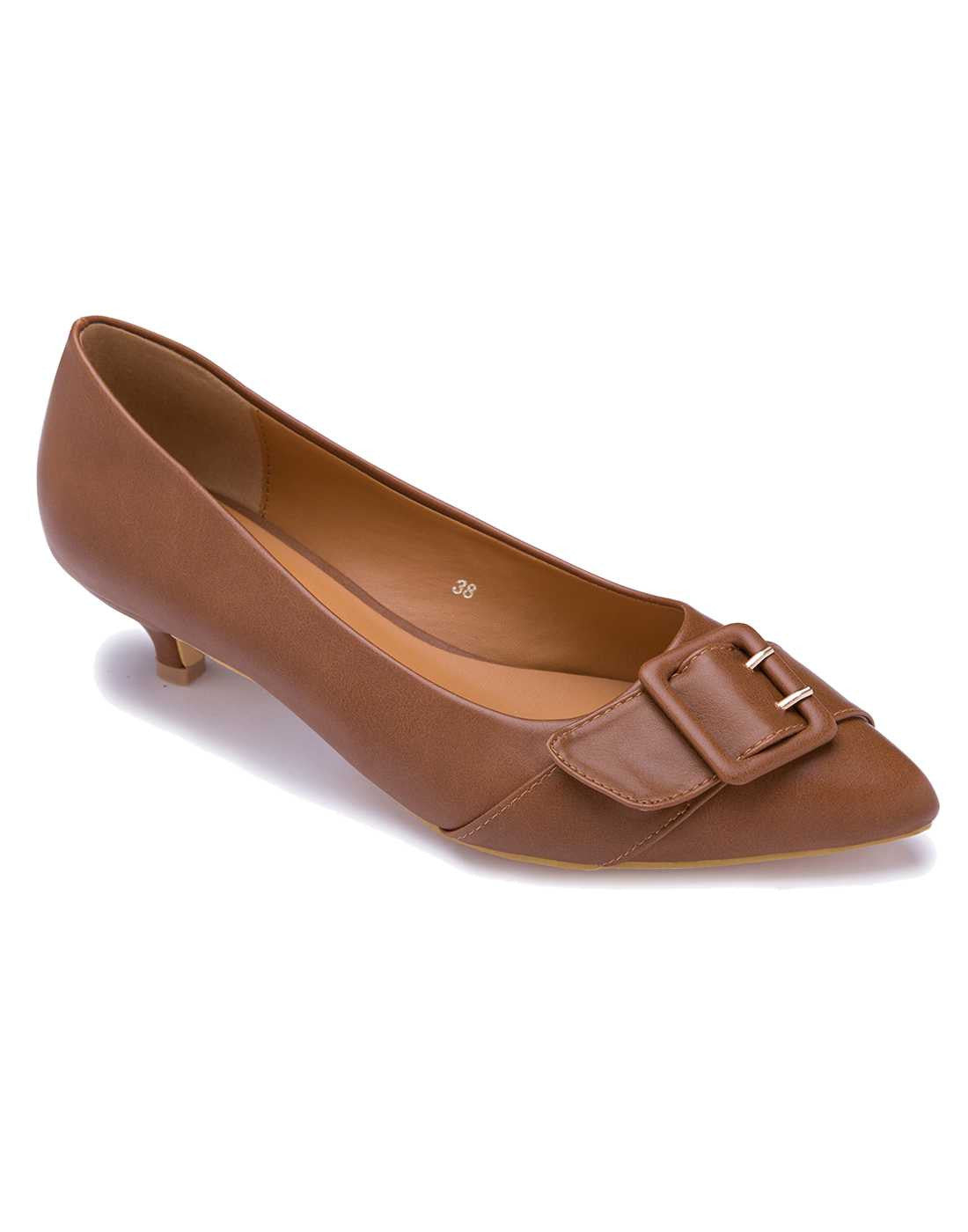 Tan Kitten Heel Sandal