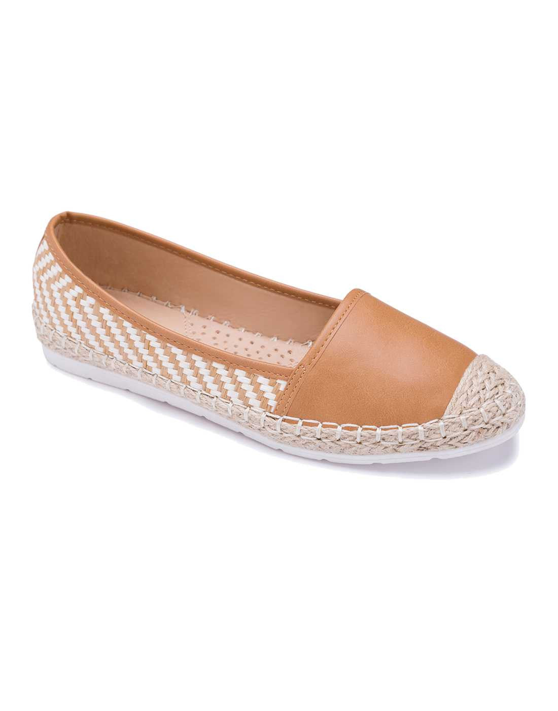Brown Cap Toe Espadrille