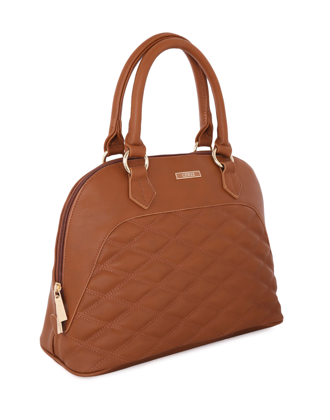 Aquila Tan quilted Handbag