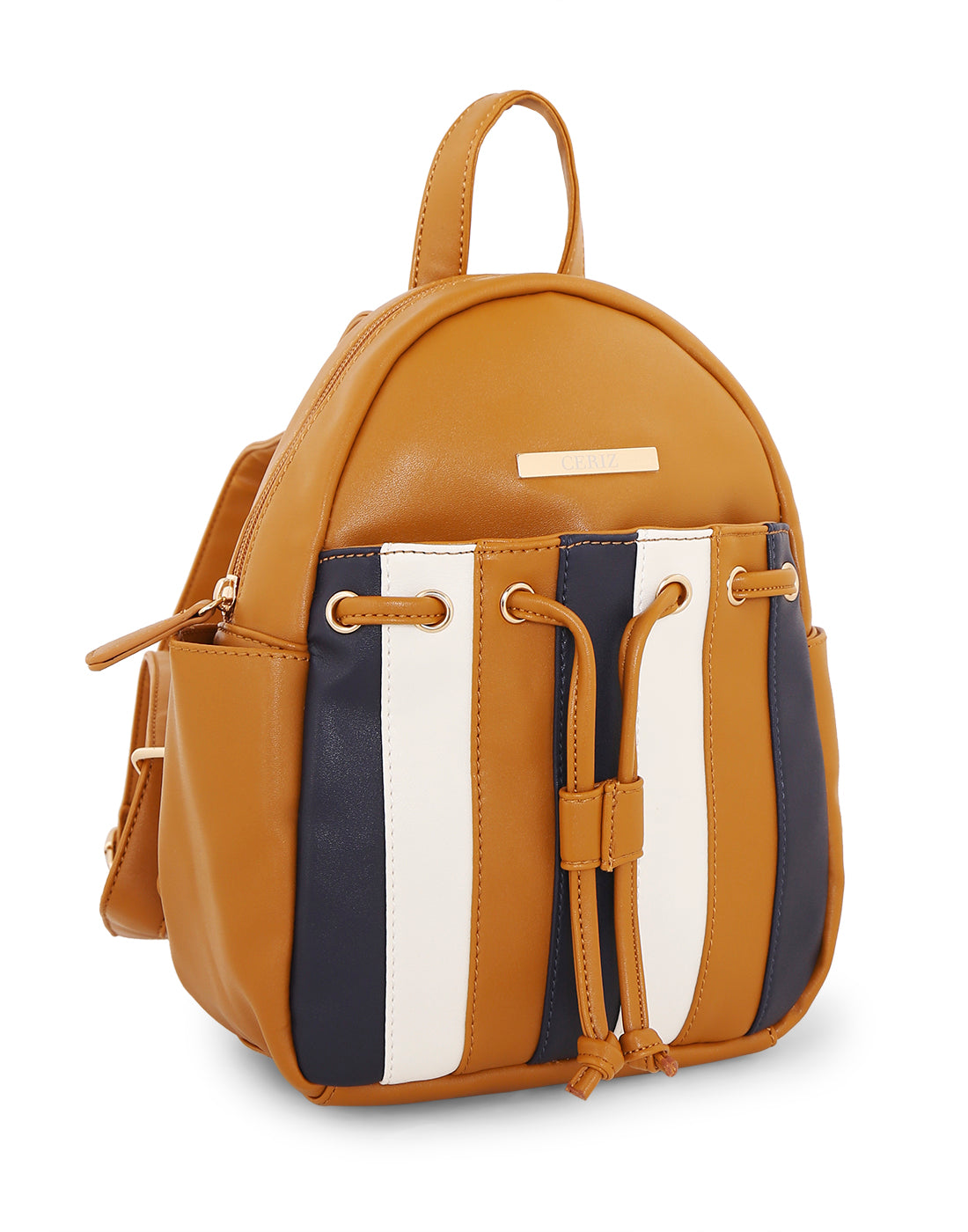 Lenorea Tan Striped Backpack
