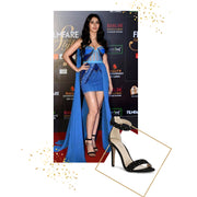 Warina Hussain in Rose Black Stilettos