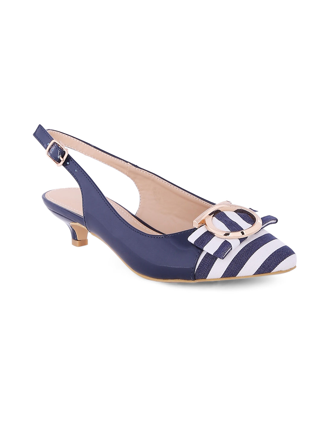 Ariana Navy Stripped Sandals