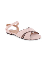 Alethea Beige Stripped Piping Sandals
