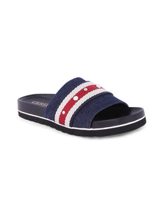 Anaya Navy Denim Sandals