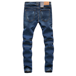 ZLZ Men's Super Comfy Slim Fit Stretch Biker Jeans