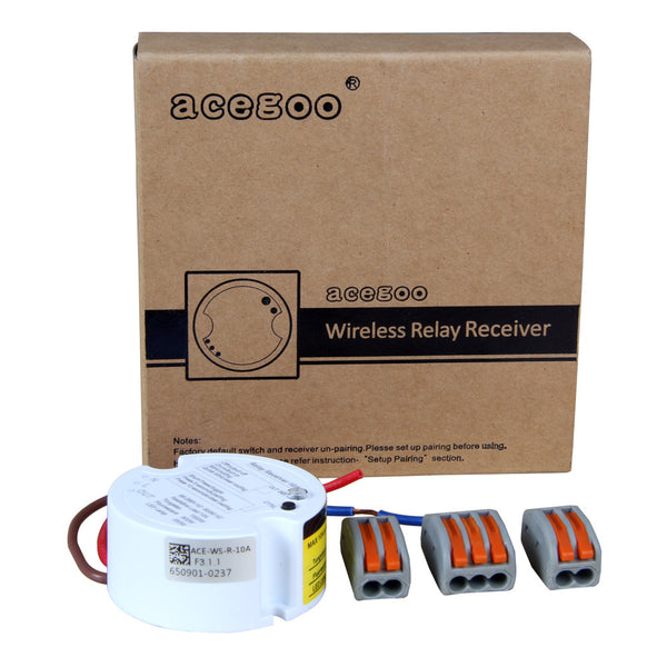 Acegoo Remote Control Receiver 3 Wire Controller AC85-265V Input Max 10A Amps (Receiver Only)