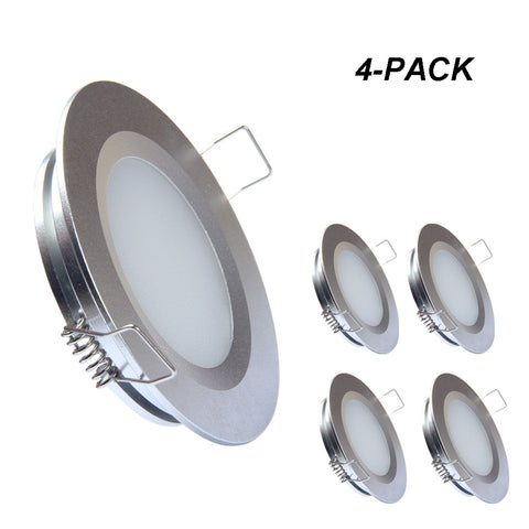Acegoo RV Boat Led Recessed Ceiling Light 4 Pieces - Super Slim Full Aluminum