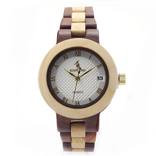 Double Colour Ladies Maple & Red Sandalwood Watch