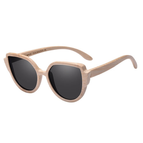 Classic Framed Women's Bamboo Sunglasses