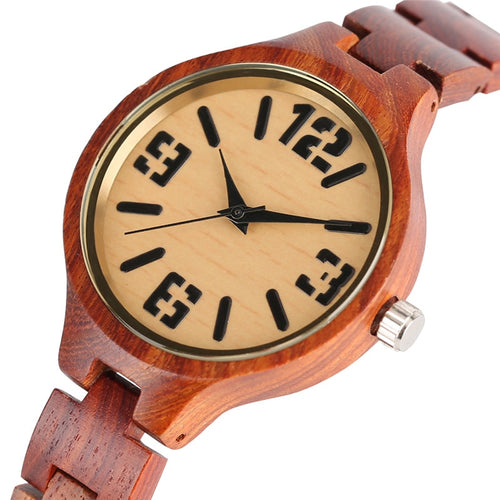 Vintage relogio feminino  Bamboo Wood Watch for Women