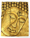 Buddha plaque gold