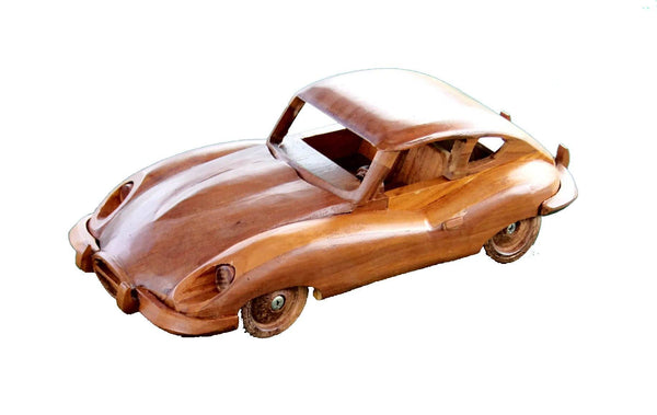 Automobilia - E-type Jaguar Classic Car  Model Wooden Ornament