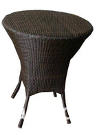 Black Rattan Bistro Table
