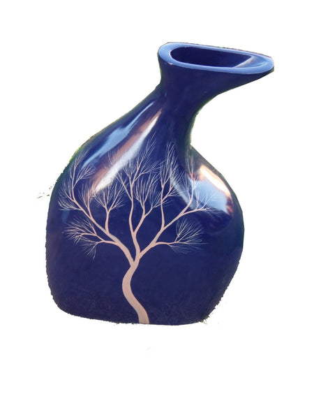 Blue Decorative Vase 34 Cm
