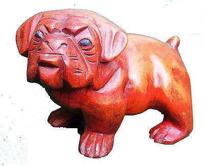 Bulldog - Bulldog Small Ornament Wood Carving