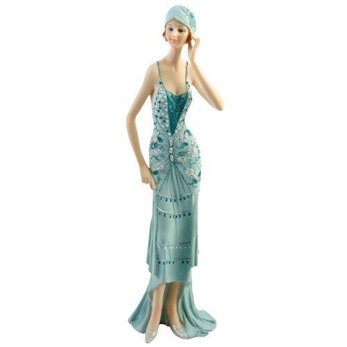 Decorative Ornaments & Figures - Broadway Belles Lady Figurine Statue. Blue