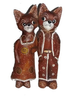 Decorative Ornaments & Figures - Cat Couple