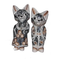 Decorative Ornaments & Figures - Cat Couple Shabby Chic