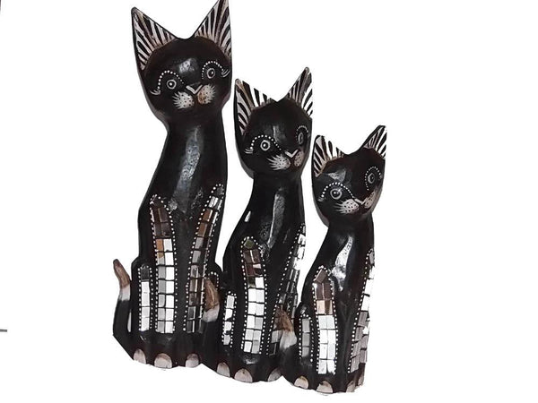 Decorative Ornaments & Figures - Cat Ornament Set Of 3
