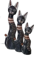 Decorative Ornaments & Figures - Cat Ornaments Set Of 3  50/40/30 Cm