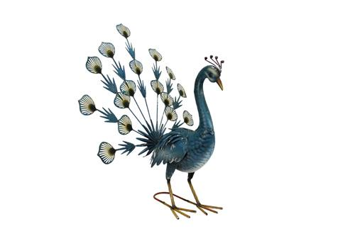 Decorative Ornaments & Figures - Fantailed Peacock Garden Ornament