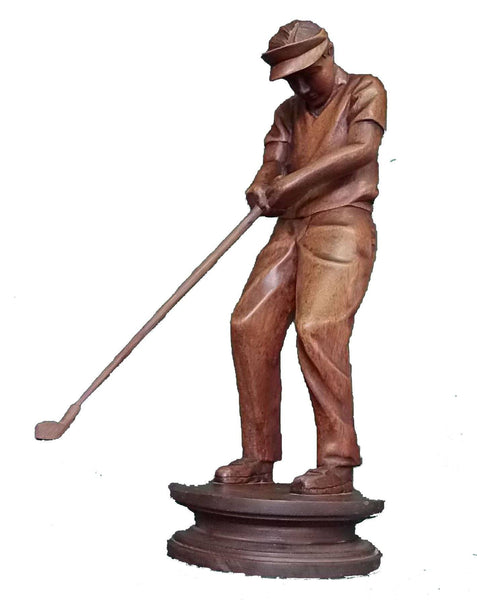 Decorative Ornaments & Figures - Golf Ornament Wooden Statue/figure