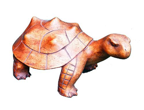 Decorative Ornaments & Figures - Tortoise Statue Wood Carving