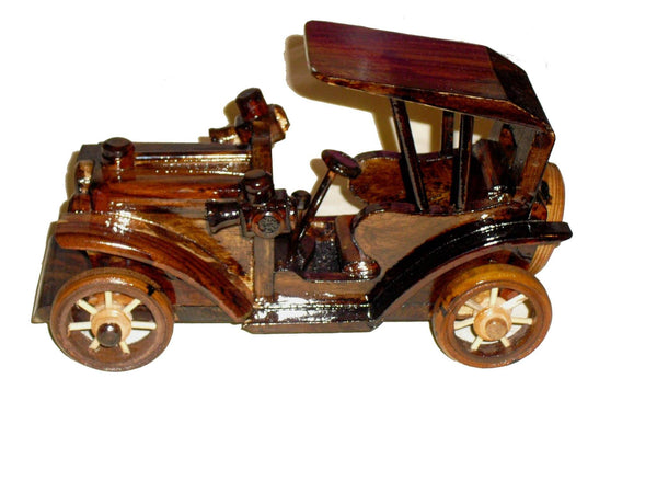 Decorative Ornaments & Figures - Wooden Car Ornament Vintage