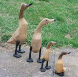Decorative Ornaments & Figures - Wooden Ducks From Bamboo Root, Duck Family 4