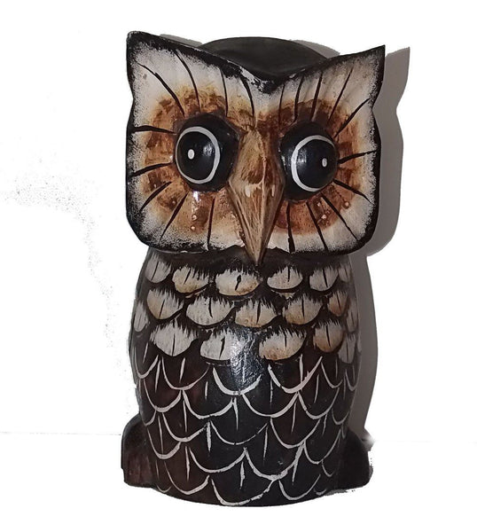 Decorative Ornaments & Figures - Wooden Owl