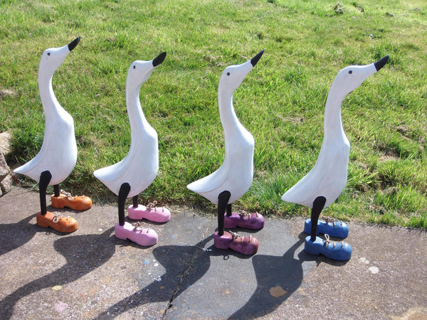 Wooden Ducks Tagged Ducks With Shoes Home Gifts Garden