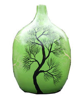 Green Decorative Standing Vase
