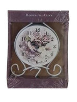 Mantle Rose Clock Purple