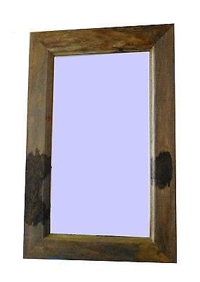 Mirrors - Wall Mirror, Mango Furniture Solid Wood Frame 100x65 Cm