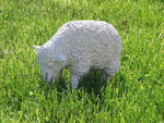 Other Garden Ornaments - White Lamb Grazing Garden Ornament