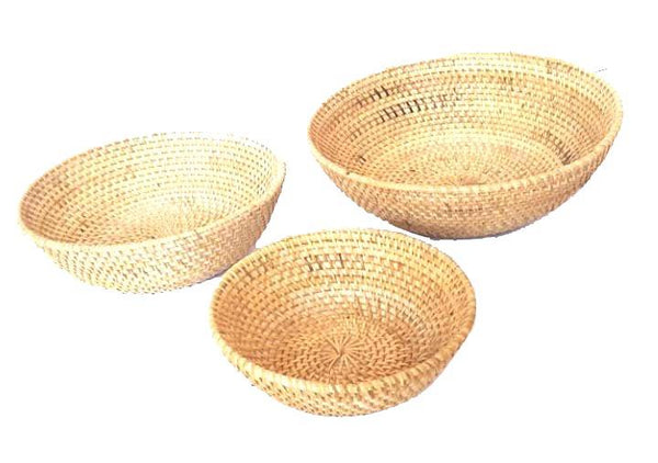 Other Interior Accessories - Light Natural Rattan Bowl Set