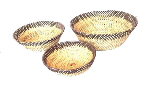 Other Interior Accessories - Two Shade Natural Rattan Bowl Set