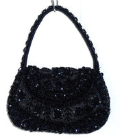 Evening hand bags from beads and sequins
