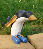 penguin in blue shoes