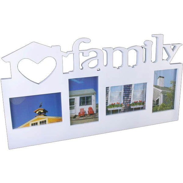 Photo & Picture Frames - Large Multi Photo White Frame FAMILY
