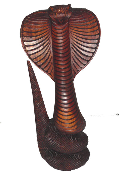 Snakes - Cobra Snake Statue Wood Carving