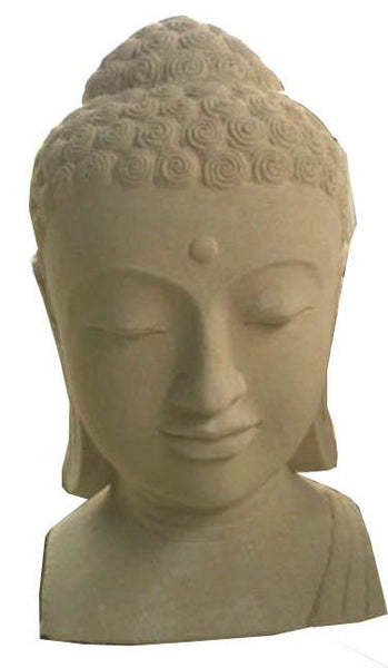 Statues & Lawn Ornaments - Buddha Head Garden Ornament