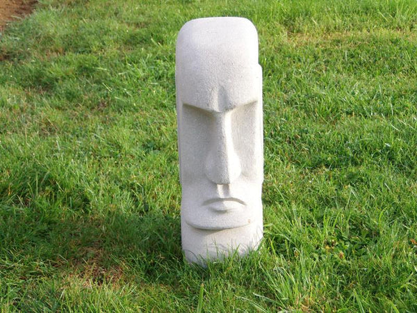 Statues & Lawn Ornaments - Easter Island Head Solid Stone  Ornament