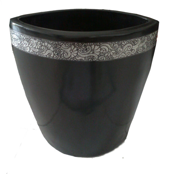Vases - Black Oval Vase