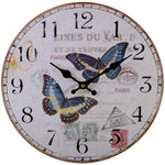 Wall Clocks - Large BUTTERFLY Wooden WALL CLOCK