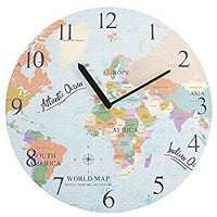 Wall Clocks - Map Wall Clock