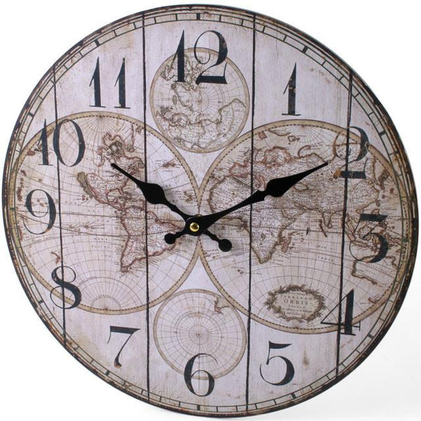 Wall Clocks - Vintage Atlas Clock