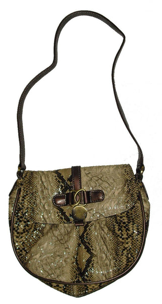 Women's Handbags - Snake Skin Handbag